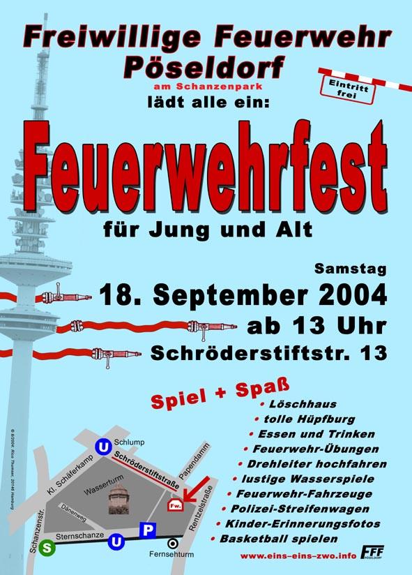 Plakat Kinder und Sommerfest