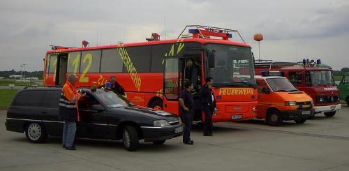 Fahrzeugaufstellung TEL/GEL