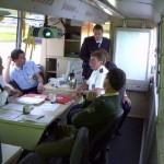 Im Befehlswagen-Führungsraum