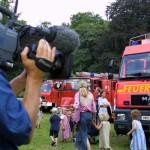 Der NDR hatte TV-Aufnahmen für das Hamburg-Journali gemacht. Noch am Sonnabend wurden die Bilder gesendet.  Foto: Florian Büh