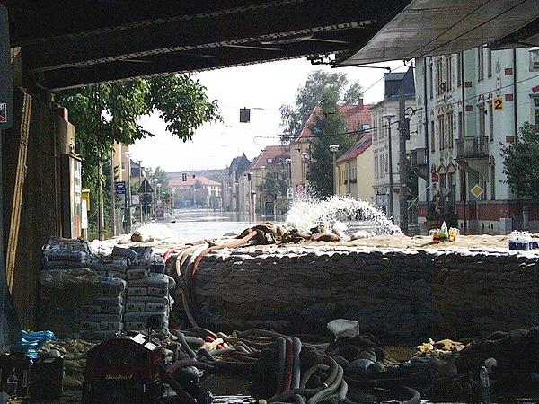 Schadensstelle im Ortsteil Pieschen