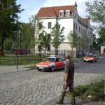 Ausrücken einer Hamburger Einheit (2 ELW, HLF, Dekon-P)