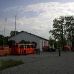 Bereitstellungsraum in der Offiziersschule mit BFW und Versorgung