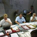 Die FEL (Feuerwehr Einsatz Leitung)   Von hier aus wird alles geplant, koordiniert, und alarmiert.