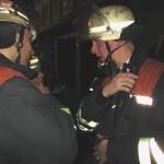 Kurze Absprache der Gruppenführer zur Menschenrettung. ©Freiwillige Feuerwehr Lokstedt
