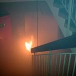 Aus dem Keller schlagen den Trupps Flammen entgegen. ©Freiwillige Feuerwehr Lokstedt