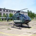 Ein BGS-Hubschrauber vom Typ EC 135