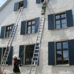 Höhenrettung mit Hilfe eines Rettungsschlittens © FF Stellingen
