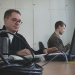 Die Abteilung PHP, MySQL, Christoph Oemig und Frank Wollenweber (v.l.)