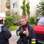 Angriffstruppführer der FF Billstedt-Horn berichtet dem B-Dienst