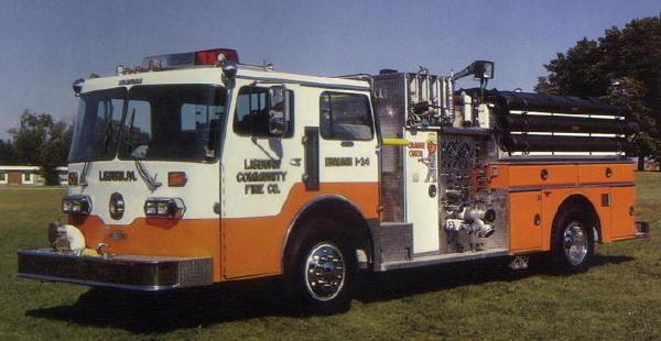 Engine in orange-weiss