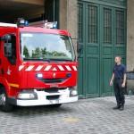 Alarm für das Kombifahrzeug zu einem Kleinfeuer
