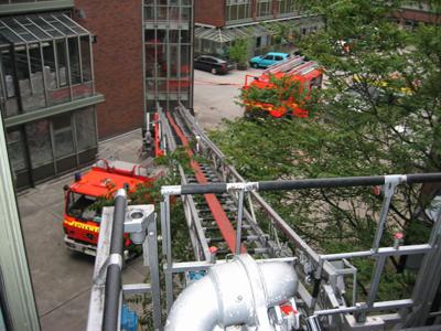 Ein Blick aus dem 2.OG<br>© FF Rönneburg