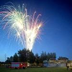 Höhepunkt nach dem Himmelfahrtskonzert: Das große Feuerwerk auf dem Festplatz.