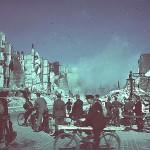 An vielen Stellen war kein Durchkommen, weil Ruinen gesprengt wurden.<br> Fotograf: Willi Beutler<br> Copyright and all rights reserved; alle Urheber- und Leistungsschutzrechte vorbehalten: Landesbi