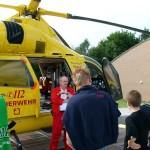 Beim Rettungshubschrauber Christoph Hansa in Boberg:<br> Manfred Donner gibt Auskunft