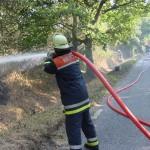 Flächenbrand Glashütter Landstraße<br>Foto: FF-Langenhorn