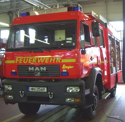 Frontansicht LF 16/12 MAN neueste Serie 2003