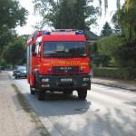 Das neue LF kurz vor dem Ziel, dem Feuerwehrhaus der FF-Duvenstedt