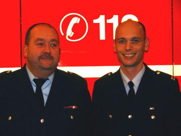 Bereichsführer Gerd Rüther und sein Vertreter Peter Wegemer (v.l.)