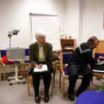 Frau Dr. Verena Müller leitete die Einzelgespräche und war für den Inhalt verantwortlich