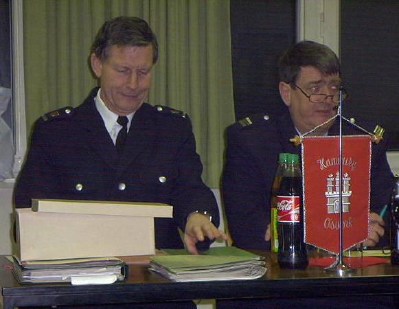 Vor der Wahl, DBerF W. Abendroth und BerF/V U. Prehm, der seit dem Jahreswechsel die Dienstgeschäfte bereits kommissarisch wahrnahm.