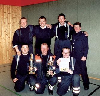 hinten von links: Andreas Stark, Marco Utermöhlen, Michael Peters, Adolf Steffens (WF)vorn von links: Olaf Muhl, Christian Eggers und Björn Beeken