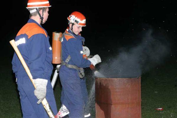 Nachts um zwei: Brennender Abfalleimer im Stadtpark  (Foto: T.Melfsen)