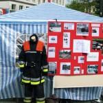 Der Stand der FF Eimsbüttel mit Informationen zum Bau des Feuerwehrhauses im Paciusweg.<br>© Jörg Eckloff<br>