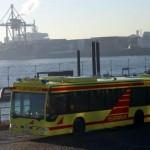Der Großraum-Rettungswagen (G-RTW) am Hafen<br> © Foto: Timo Jann / Feuerwehr-Magazin
