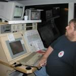 Fernmelder des Deutschen Roten Kreuz Schwerpunkt Vier-Meter-Funk links mit Atari zum decodieren von Funk-Melde-System - Telgrammen (Stati) und rechts Encoder für 5-Ton-Alarmierungen.<br> © M. Wolf
