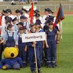 Zur Siegerehrung angetreten: Der Hamburger Block (Foto: JF Wellingsbüttel)