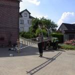 Verlängerte und stabilisierte Leitern gewährleisten sichere Arbeit  - Foto: Michael Hammerich - FF Lokstedt