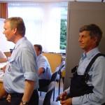Lagebesprechung in der TEL: DBERF Werner Sannmann, BERF Werner Burmerster, Wolfgang Neustadt F2956, LBF Hermann Jonas.KD.