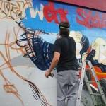 Der Grafiker Philipp Kabbe bei der Arbeit<br>© FF Stellingen<br