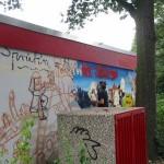 Das halbfertige Graffiti<br>© FF Stellingen<br