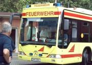Unter anderem mit dem neuen GRTW der Feuerwehr Hamburg werden die Patienten transportiert ...Bild: Piewi - FF Bergedorf