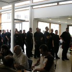 Abschliessend gab es für alle beteiligten Kräfte ein Mittagessen.<br>Bild: Jahnke - FF Boberg