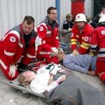 Versorgung in der Verletztenablage
