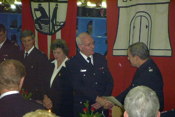 Amtsleiter OBD D. Farrenkopf bei der Gratulation