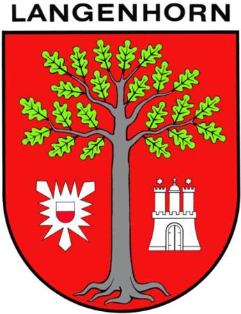Elemente des Langenhorner Wappens wurden in das Wappen der Wehr aufgenommen.