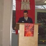 Carsten Klein (WF) bei seiner Ansprache