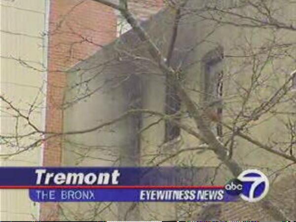 Brandstelle in der Bronx