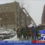 Brandstelle in der Bronx, Tower-Ladder angeleitert
