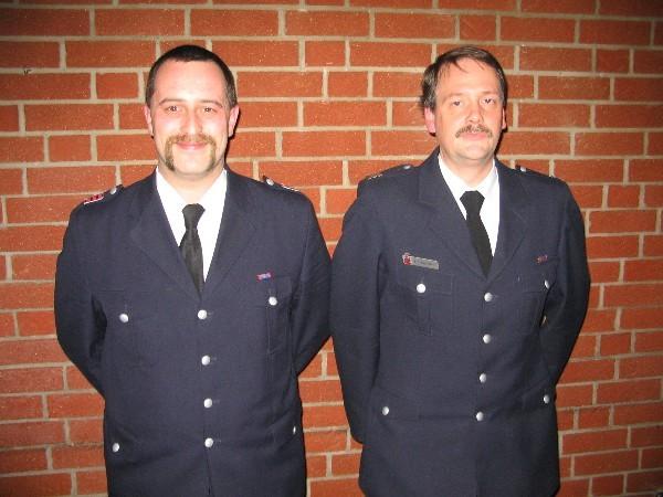 Die neue Wehrführung in Eidelstedt, links Sven Schrage, rechts Fritz Kay Bahlo
