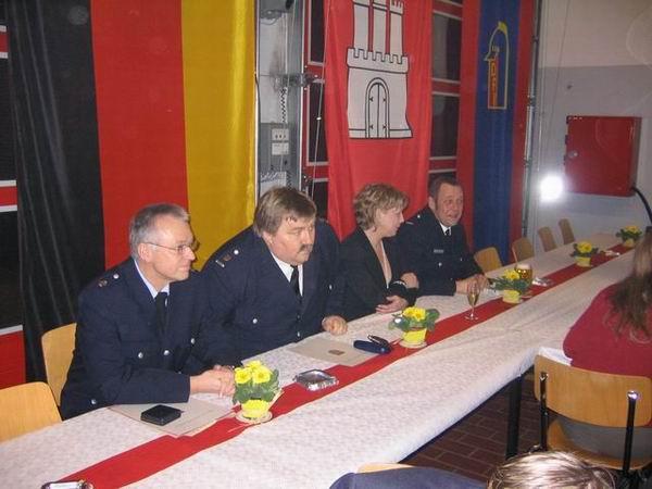 Von links: Günter Cords (Wachführer F-24), André Wronski (DBERF OST/NORD), Janin und Holger Sohst