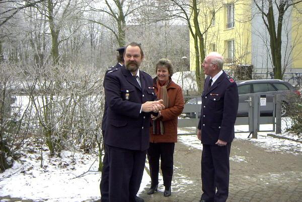 WF Osdorf, Stefan Schröder, bei der Abholung von Bernd Borchert und Frau Birgit.