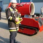 Das Fahrzeug wird zum Übungsplatz der LFS gefahren. Foto: Sascha Häfele