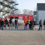 Zahlreiche Journalisten und Feuerwehrkollegen waren bei der Präsentation dabei. Foto: Sascha Häfele