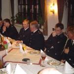 Der Vorstand der FF Curslack mit Bereichsführer Werner Burmester.